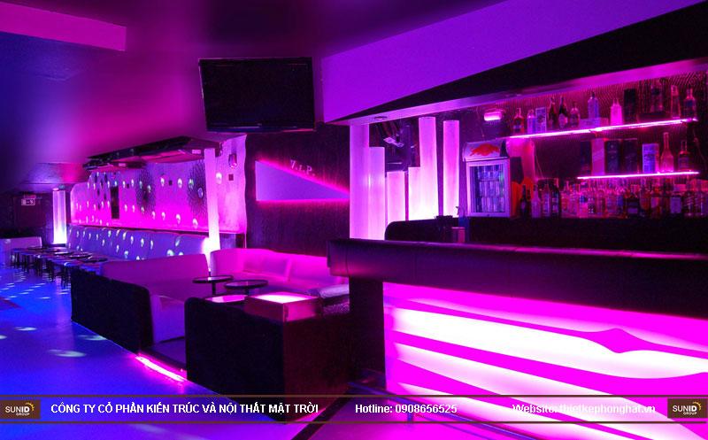 thiết kế thi công quán bar qzona vip21
