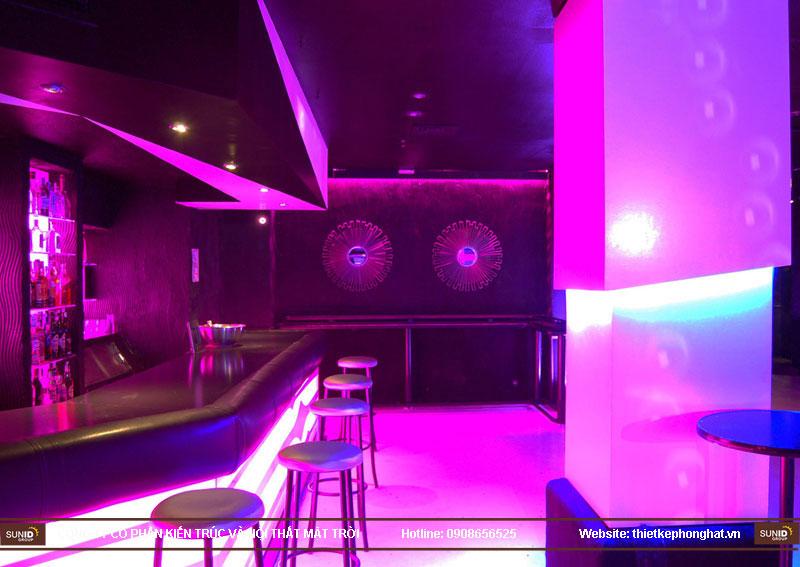 thiết kế thi công quán bar qzona vip23