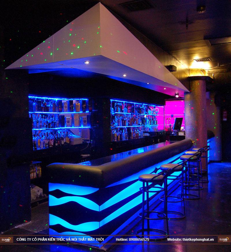 thiết kế thi công quán bar qzona vip25