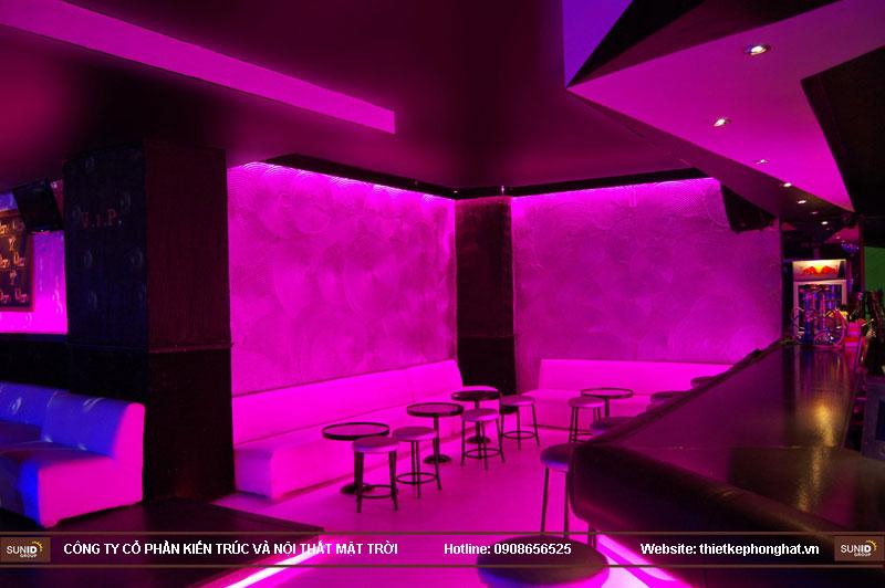 thiết kế thi công quán bar qzona vip7