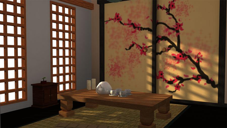 mẫu phòng trà đẹp ảnh 10