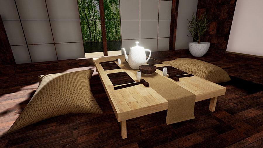 mẫu phòng trà đẹp ảnh 15