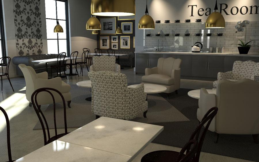 mẫu phòng trà đẹp ảnh 25