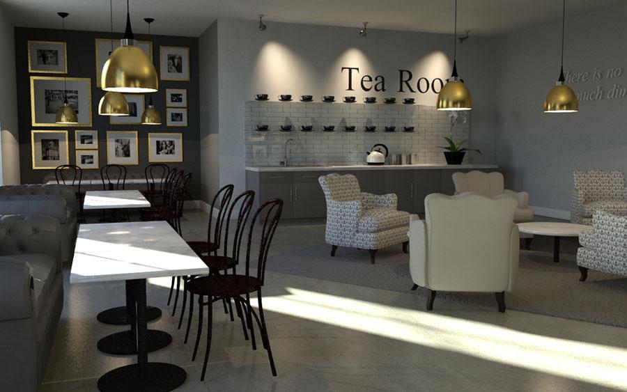 mẫu phòng trà đẹp ảnh 26