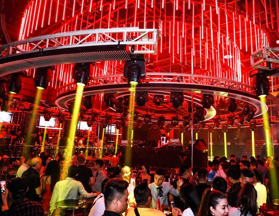 thiết kế hệ thống âm thanh ánh sáng quán bar vũ trường ảnh 1