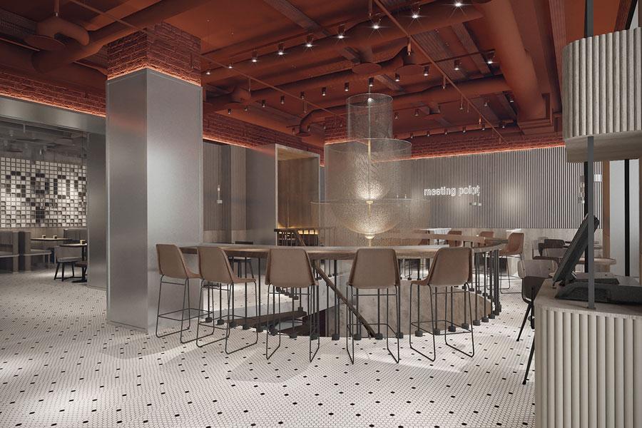 ý tưởng thiết kế quán cafe bar sang trọng ảnh 2