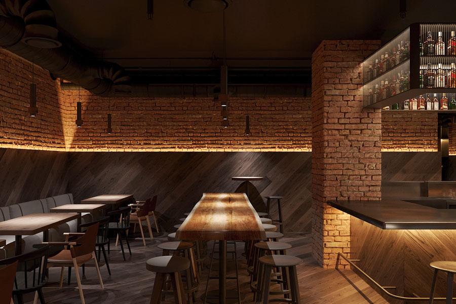 ý tưởng thiết kế quán cafe bar sang trọng ảnh 3