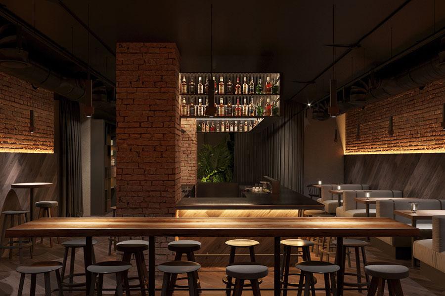 ý tưởng thiết kế quán cafe bar sang trọng ảnh 8