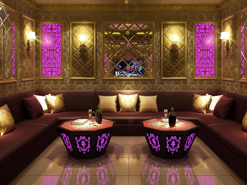 sàn karaoke bằng gạch đá hoa