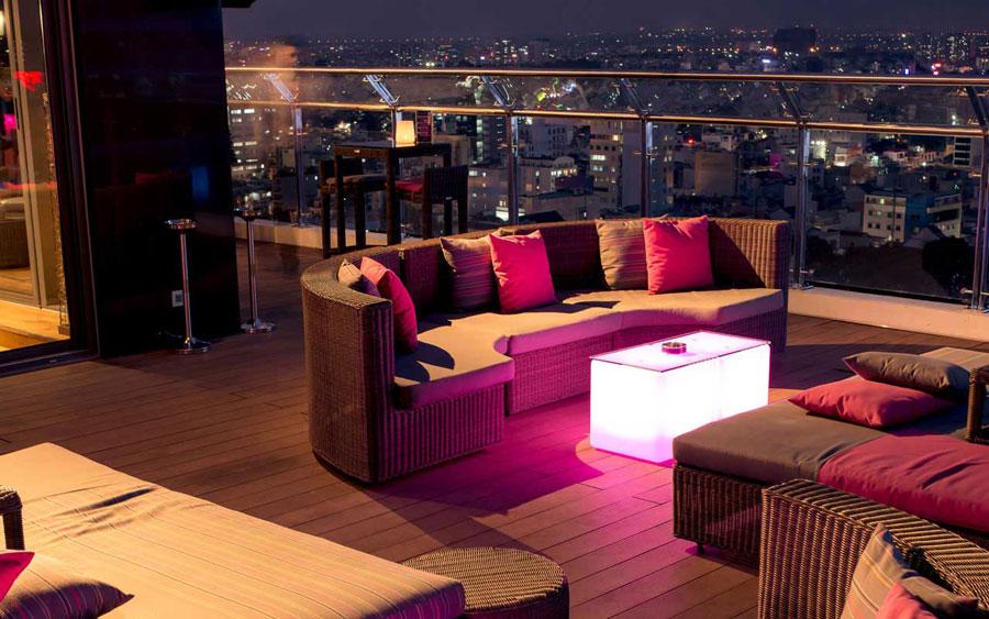 thiết kế quán bar sân thượng ảnh 13