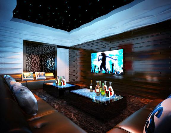 phòng karaoke tại biệt thự chung cư cao cấp