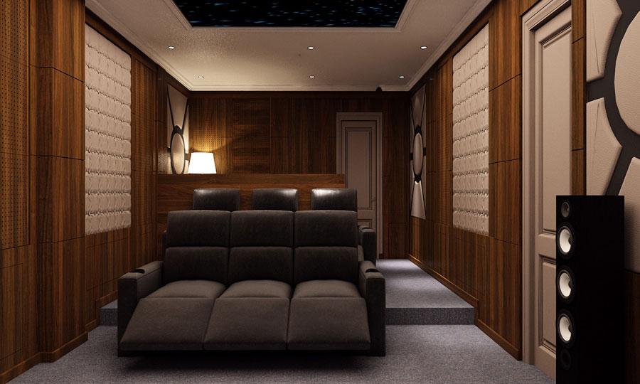 phòng karaoke xem phim biệt thự chung cư 1