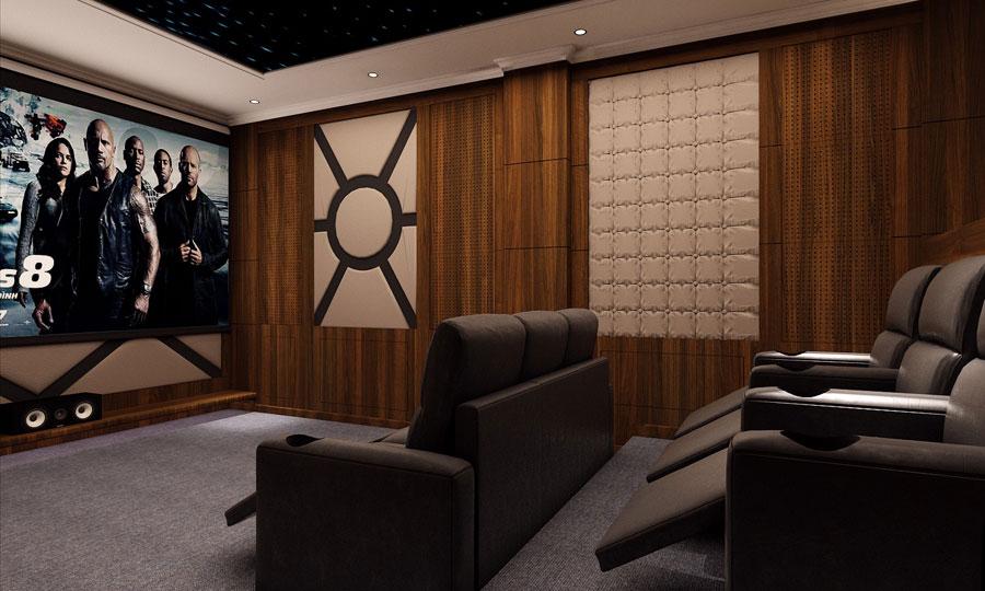 phòng karaoke xem phim biệt thự chung cư 3