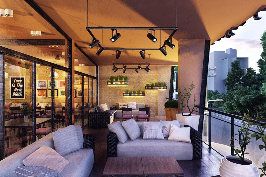 thiết kế quán cafe 2 mặt tiền đẹp 10