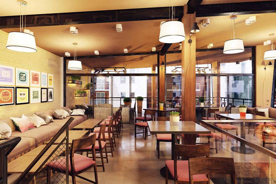 thiết kế quán cafe 2 mặt tiền đẹp 7