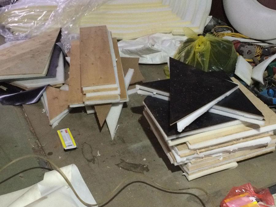 sản xuất nội thất karaoke tại xưởng 9