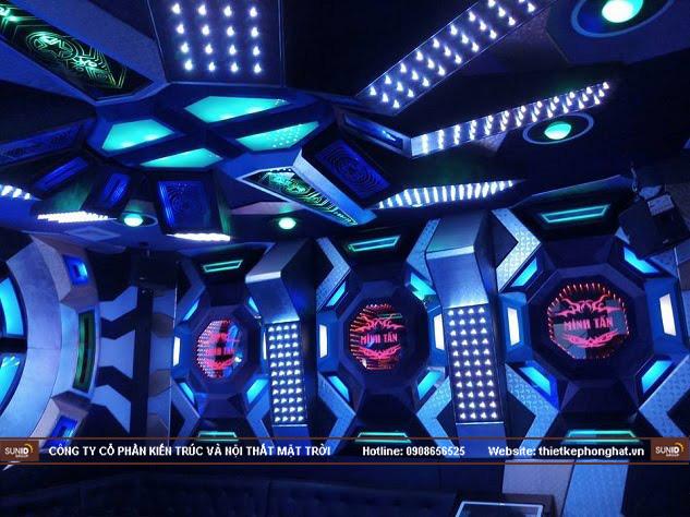 Phòng karaoke vip với hình khối đẹp mắt