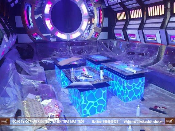 Hình ảnh thi công thực tế quán Karaoke Vip tại Hà Nội - View 4