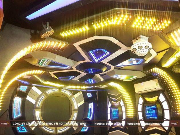 Hệ thống ánh sáng thiết kế khoa học tạo ánh sáng đột phá cho không gian phòng Karaoke