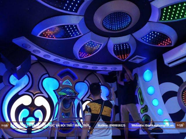 Hình ảnh thi công thực tế quán Karaoke Vip tại Hà Nội - View 1