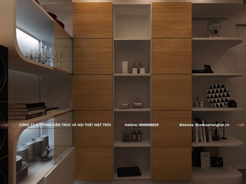 Kệ tủ được làm bằng gỗ công nghiệp An Cường