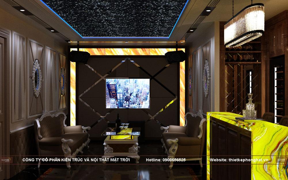 mẫu thiết kế phòng hát gia đình phong cách tân cổ điển sang trọng tại Hà Nội
