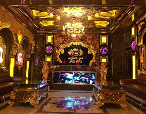 Thiết kế thi công nội thất quán Karaoke Hoàng Gia Hà Nội