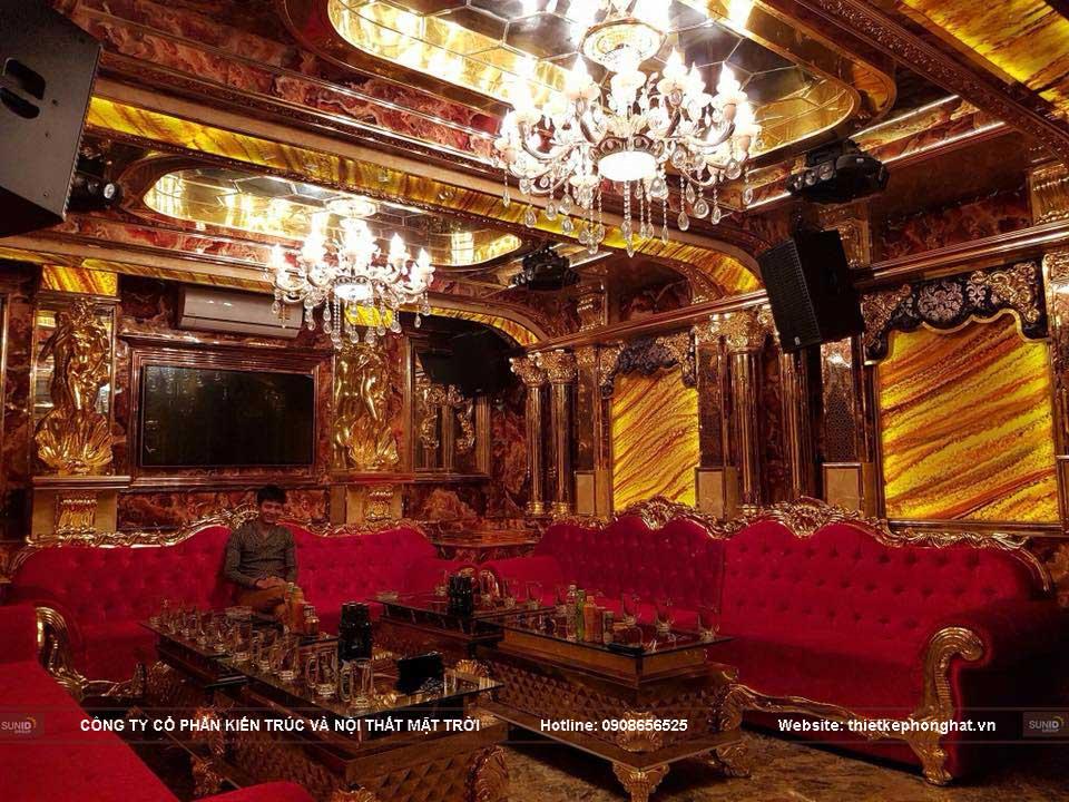 Phòng Karaoke sử dụng thiết bị nội thất sang trọng