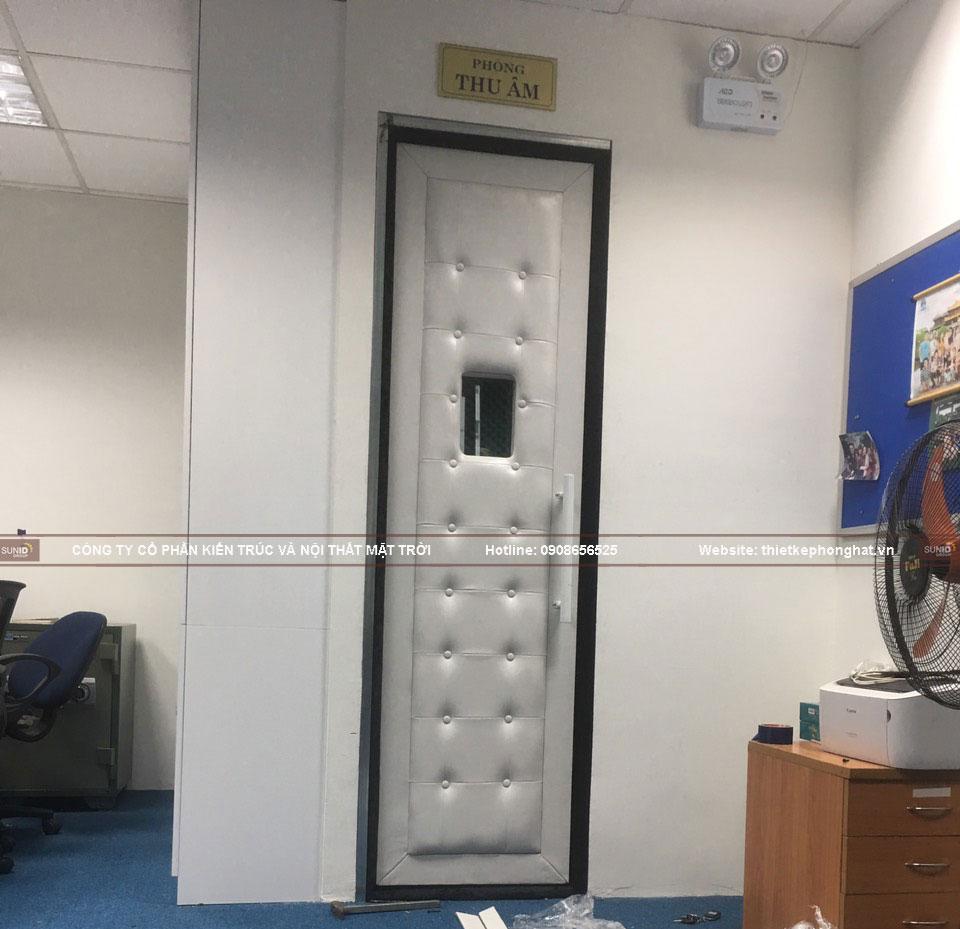 Thi công cửa cách âm phòng thu câm