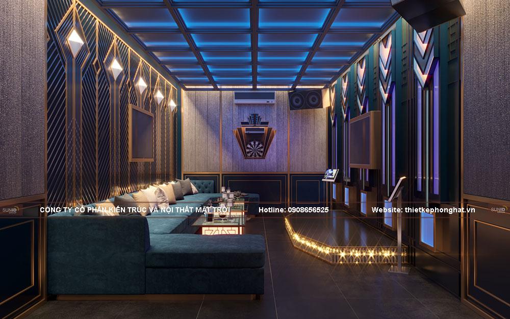Phòng karaoke có thể trở thành dạp chiếu phim mini tại gia, bạn tận hưởng được những bộ phim tuyệt vời nhất cùng bạn bè, gia đình.