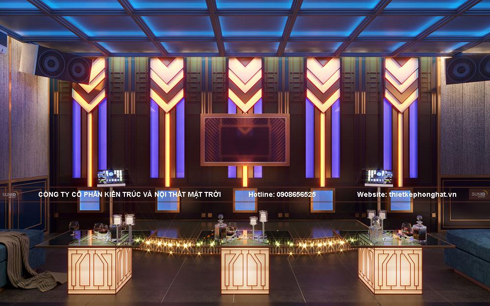 Phòng karaoke gia đình có thiết kế đầy đủ tiện nghi với nhiều hiệu ứng đẹp mắt như những phòng karaoke chất lượng cao