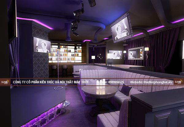 Hệ thống âm thanh, ánh sáng quán karaoke club được bố trí khoa học