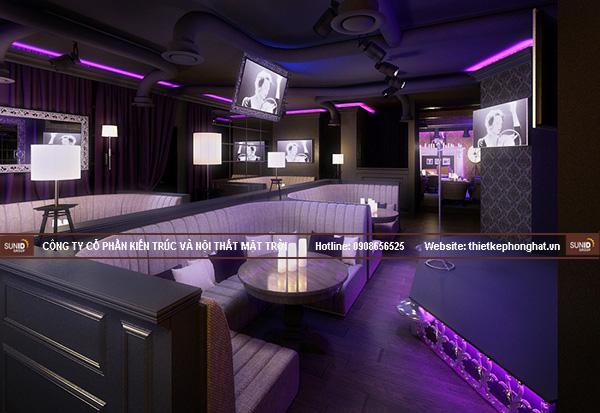 Thiết kế nội thất quán karaoke club độc đáo, ấn tượng