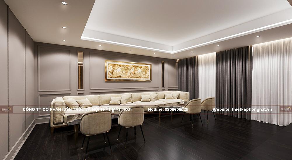 Mẫu thiết kế phòng hát gia đình biệt thự Pandora phong cách tân cổ điển