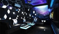 Thiết kế phòng karaoke gia đình phong cách giải ngân hà