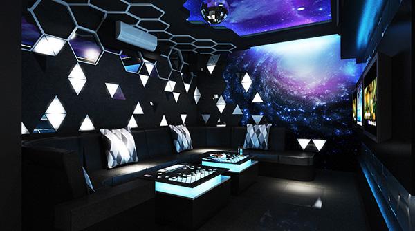 Phòng karaoke gia đình phong cách giải ngân hà ở góc nhìn khác