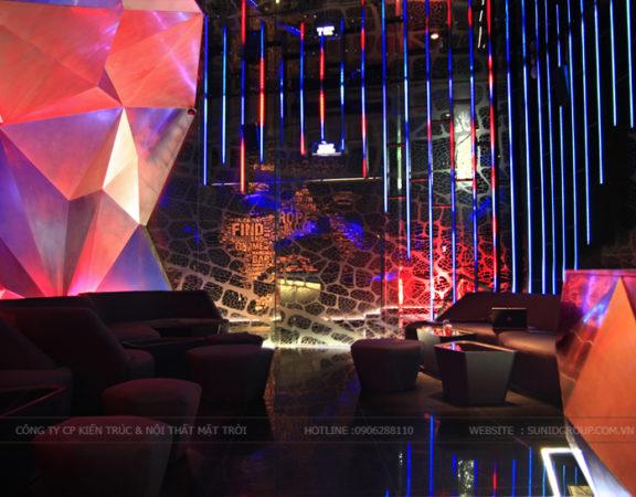 Thiết kế thi công nội thất quán Bar theo phong cách sang trọng, hiện đại