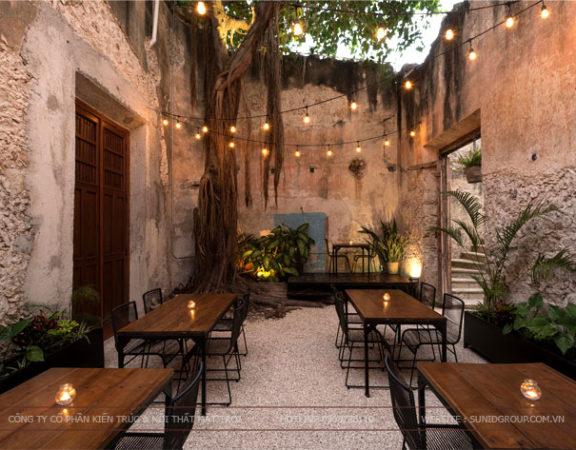 Thiết kế nội thất quán cafe mang theo phong cách hoài cổ