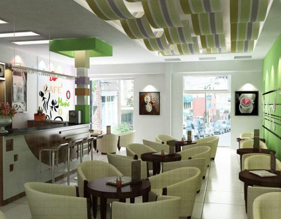 công ty thiết kế thi công nội thất quán cafe