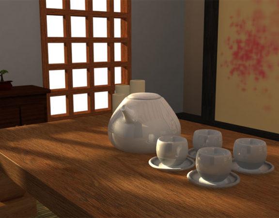 mẫu phòng trà đẹp ảnh 12