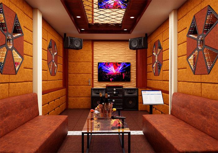 Thiết kế thi công nội thất phòng karaoke gia đình kết hợp xem phim tại Hà Nội
